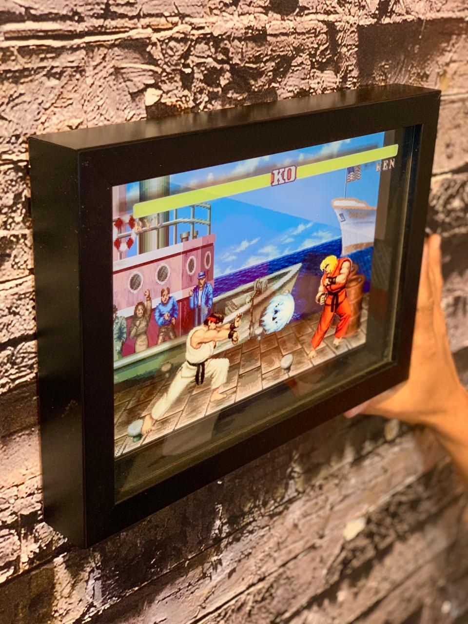 Quadro 3D Ryu vs Ken: Street Fighter II