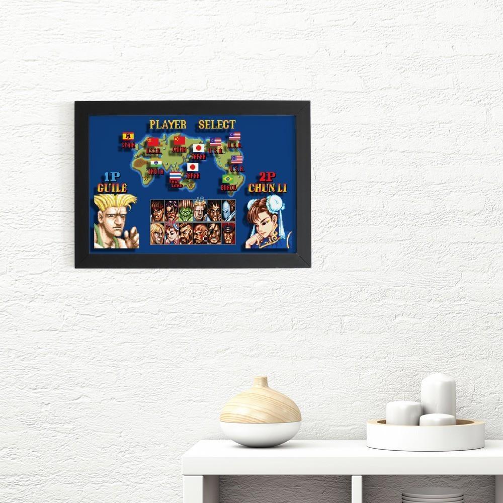 Quadro 3D : Street Fighter: Player Select (Guile e Chun Li)