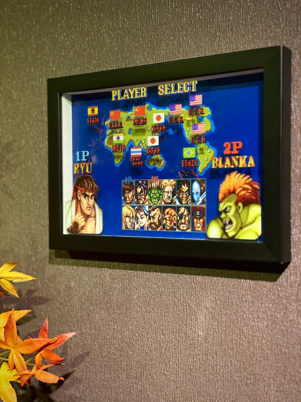 Quadro 3D : Street Fighter: Player Select (Ryu e Blanka)