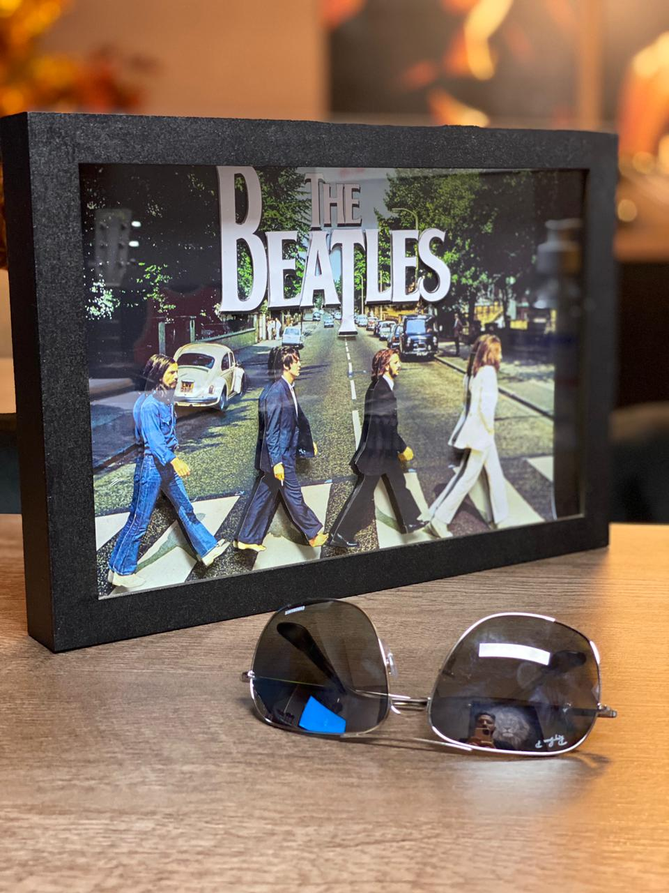 Quadro 3D The Beatles Abbey Road