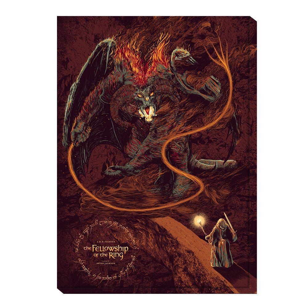 Quadro Balrog vs Gandalf: O Senhor dos Anéis (The Lord of the Rings)