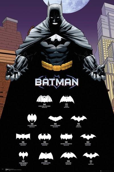 Quadro Batman Logos- Wall Street Posters