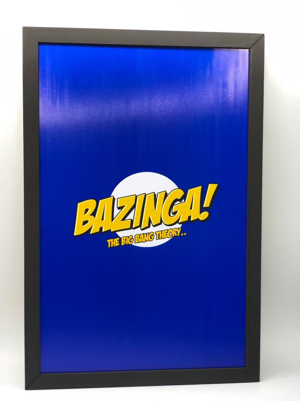 Quadro Bazinga: Big Bang: A Teoria The Big Bang Theory - 34x23