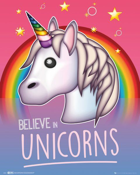 Quadro Believe in Unicorns - Wall Street Posters