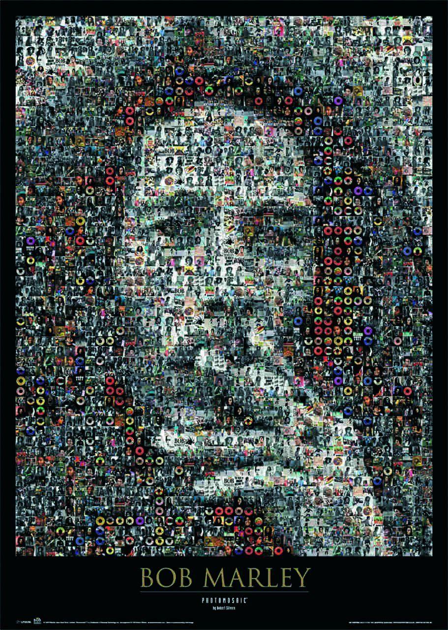 Quadro Bob Marley (Mosaico) - Wall Street Posters