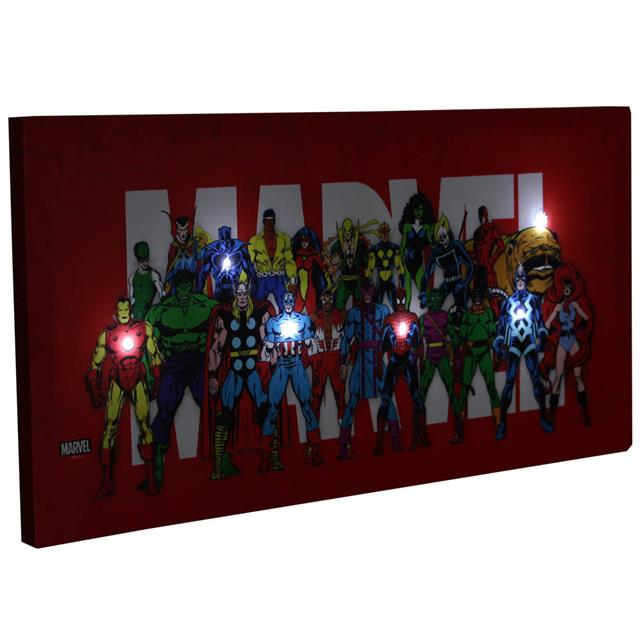 Quadro Canvas com LED Marvel - Zona Criativa