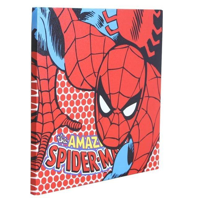 Quadro Canvas com LED Spider Man - Zona Criativa