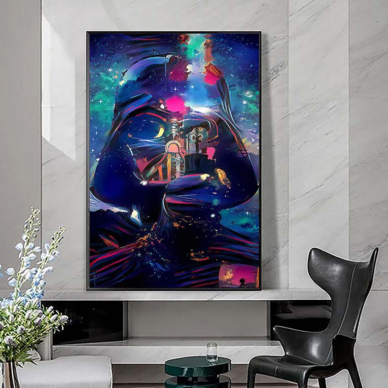 Quadro Canvas Com Moldura 50x80 Darth Vader Paints Star Wars - EV