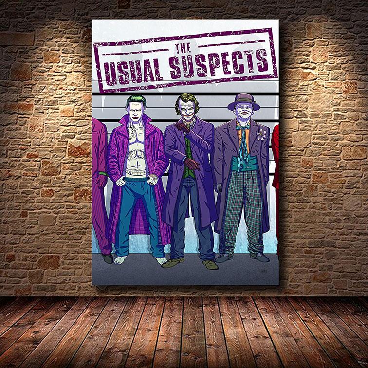 Quadro Canvas Com Moldura 50x80 Joker The Usual Suspects Coringa - EV