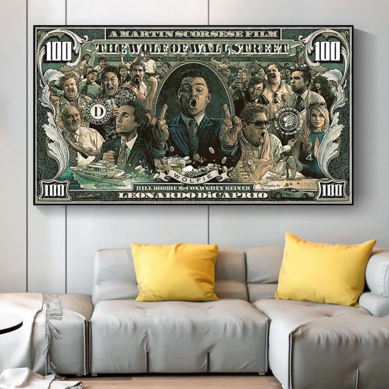 Quadro Canvas Com Moldura 60x80 Lobo de Wall Street The Wolf Of Wall Street - EV