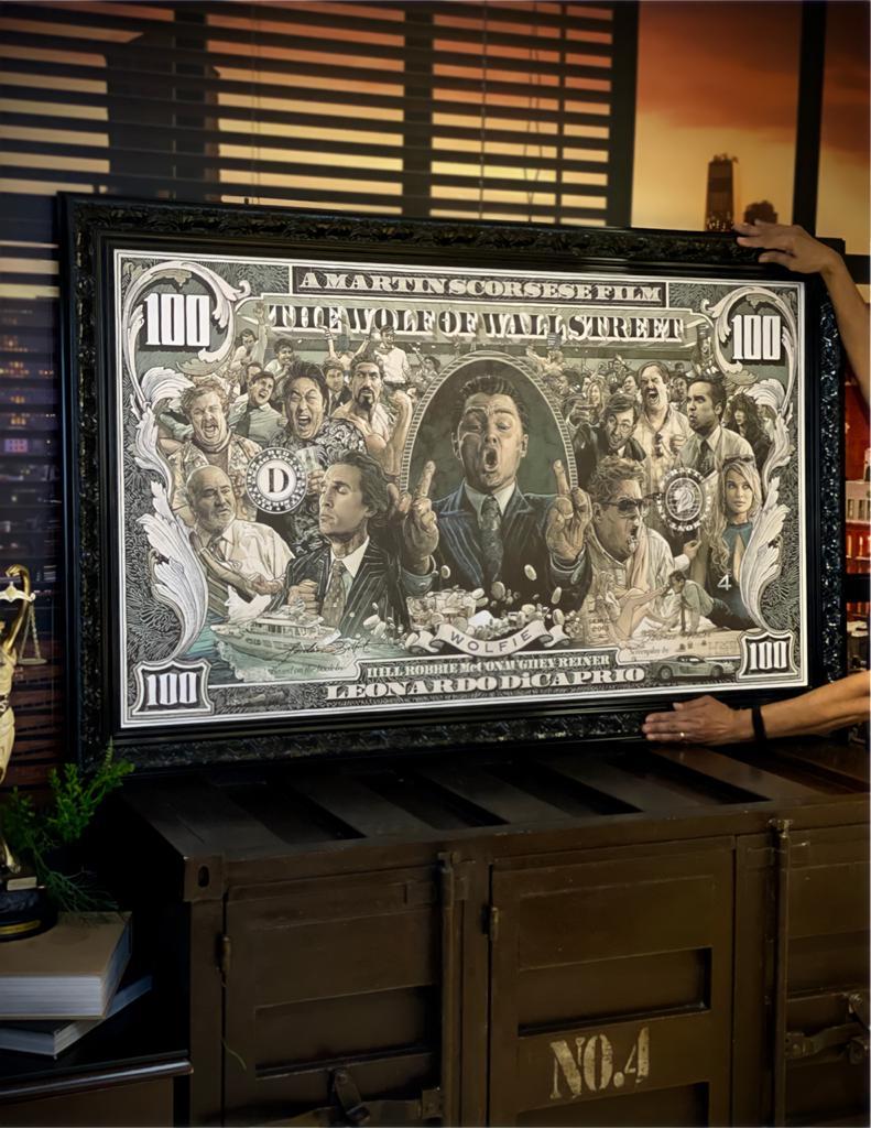 Quadro Canvas Com Moldura 85x135 Lobo de Wall Street The Wolf Of Wall Street - EV