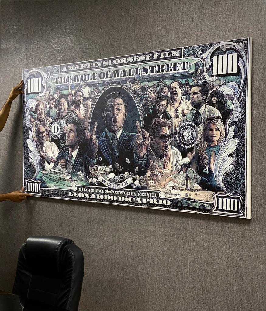 Quadro Canvas Sem Moldura 100x200 Lobo de Wall Street The Wolf Of Wall Street