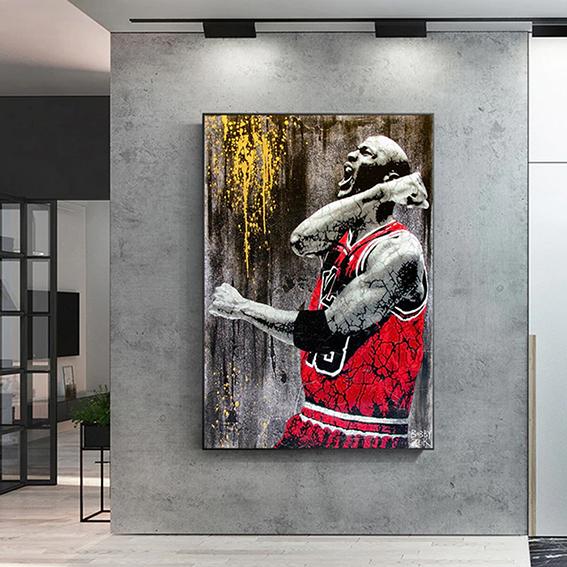 Quadro Canvas Sem Moldura 60x80 Michael Jordan Basketball NBA - EV