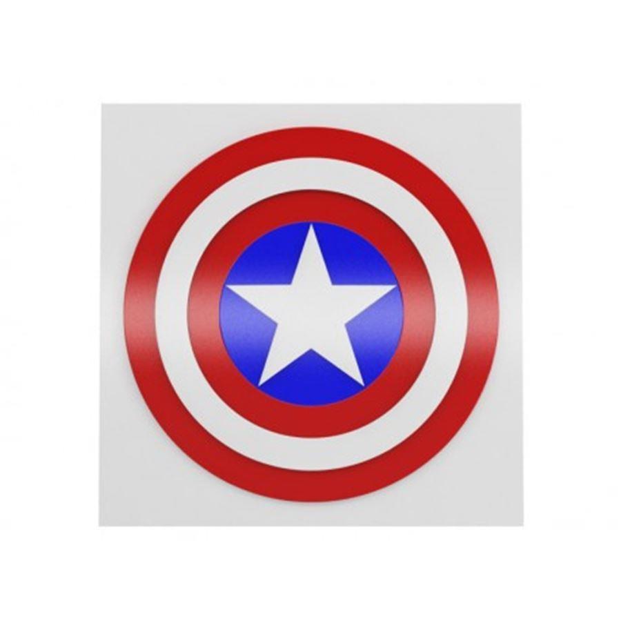Quadro Capitão América Escudo - Geton