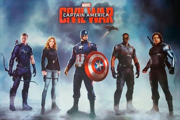 Quadro Captain America Civil War Team Captain - Wall Street Posters