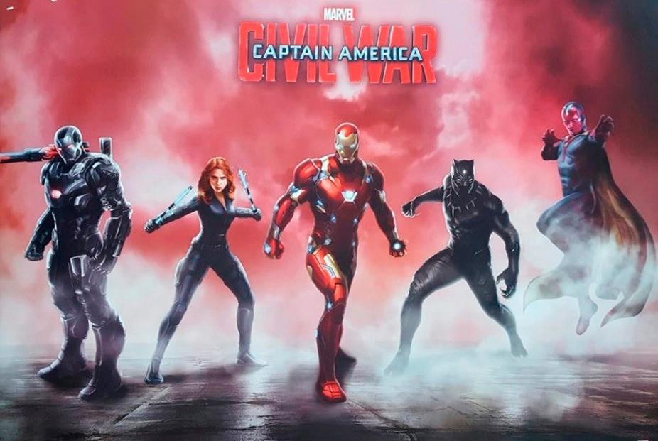 Quadro Captain America Civil War Team Iron - Wall Street Posters