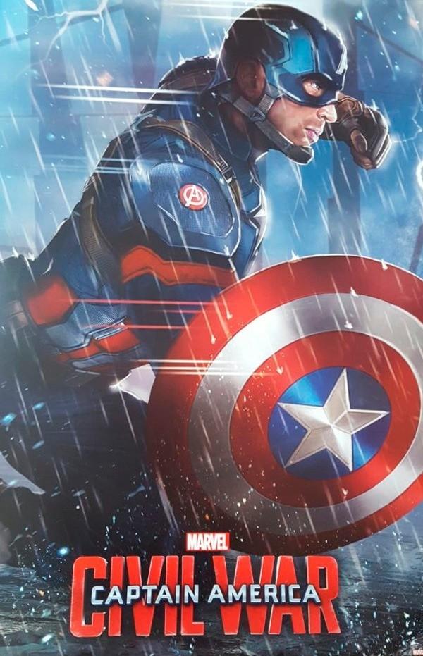 Quadro Civil War Captain America - Wall Street Posters