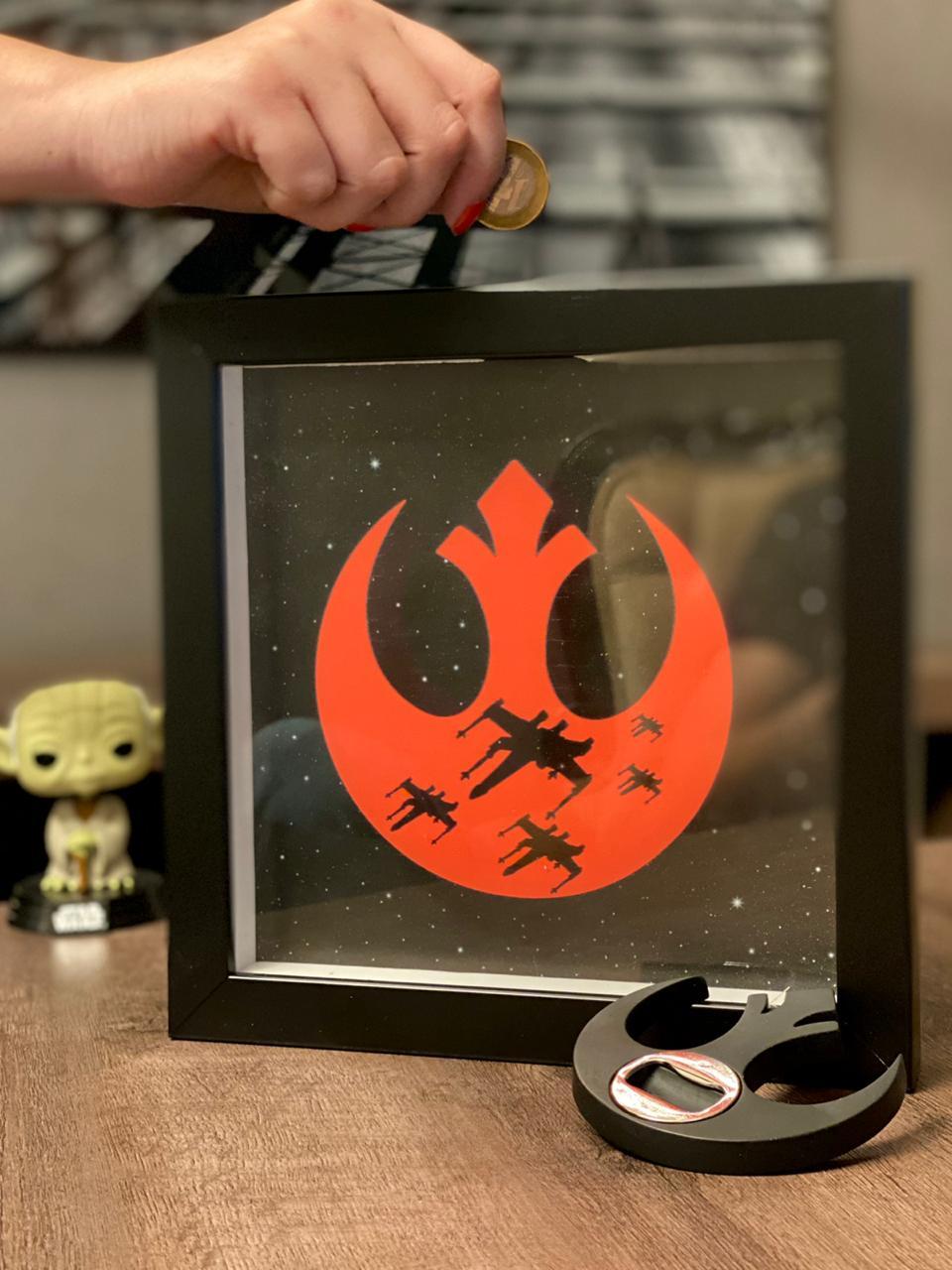 Quadro Cofre 3D Aliança Rebelde: Star Wars