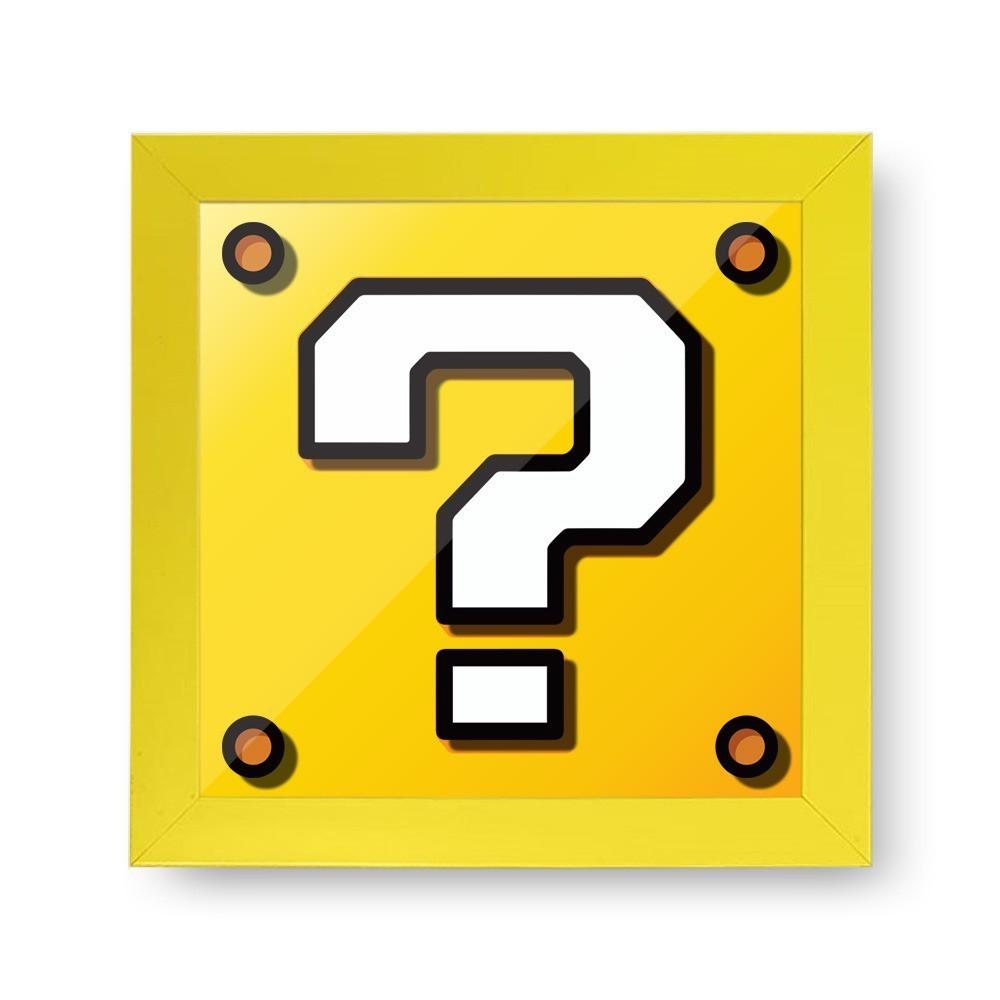 Quadro Cofre 3D Cubo de Interrogação: Super Mario Bros - EV