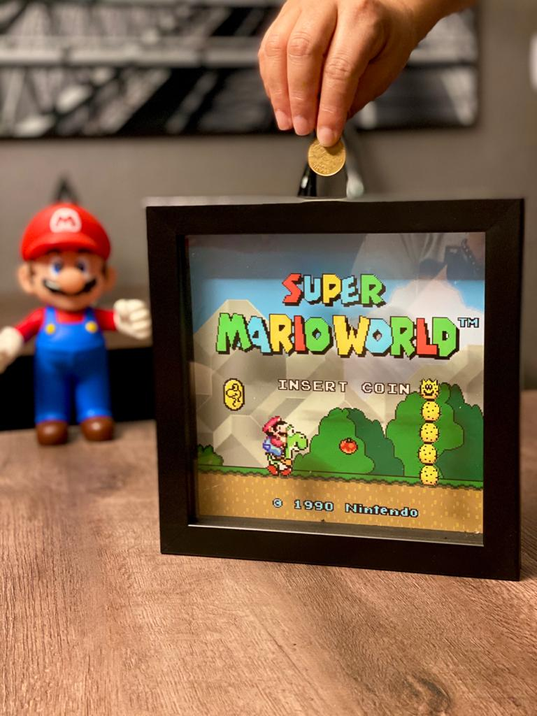 Quadro Cofre 3D Super Mario World: Super Mario Bros