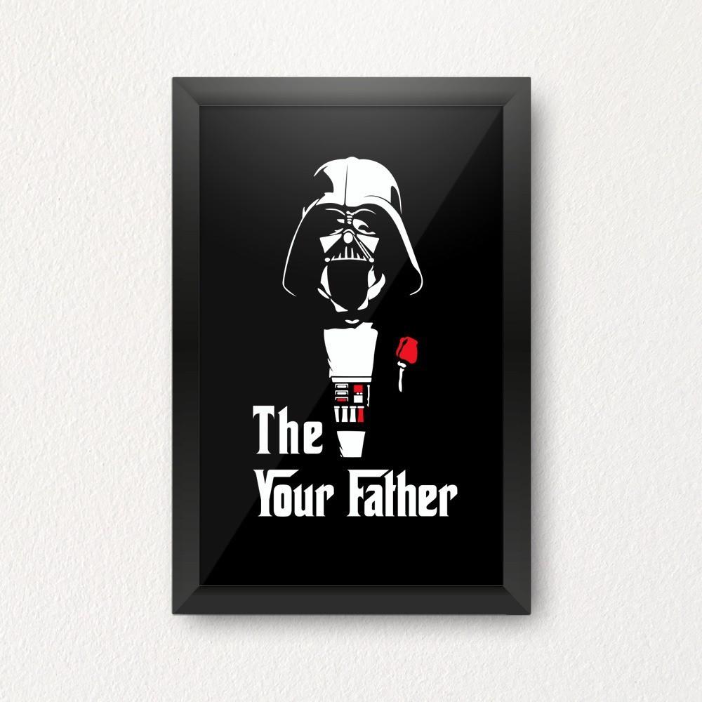Quadro Cofre 3D The Your Father Darth Vader O Poderoso Chefão Star Wars - EV