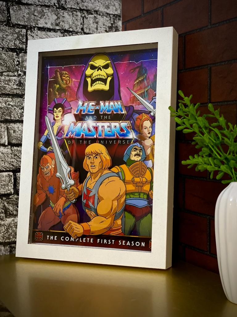 Quadro Com Moldura 3D He-Man And The Masters Of The Universe He-Man E Os Mestres Do Universo 33x23