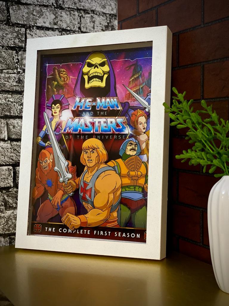 Quadro Com Moldura 3D He-Man And The Masters Of The Universe He-Man E Os Mestres Do Universo 33x23