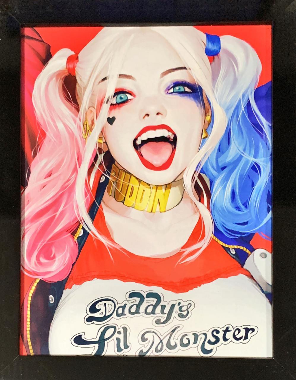 Quadro com Moldura Arlequina (Harley Quinn): DC Comics