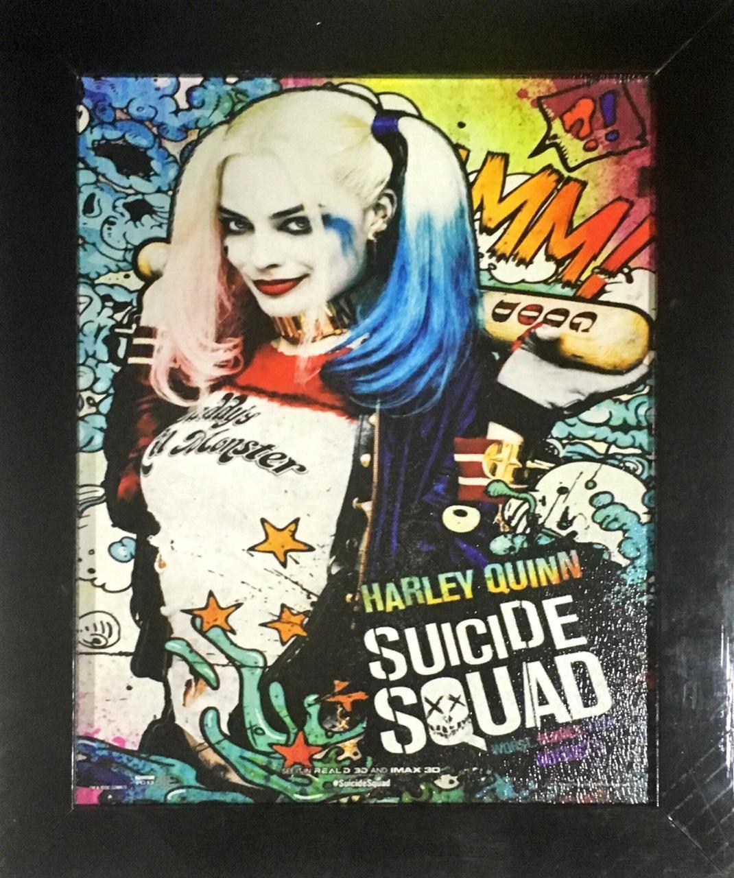 Quadro com Moldura: Arlequina (Harley Quinn) - Esquadão Suicida - 24x29