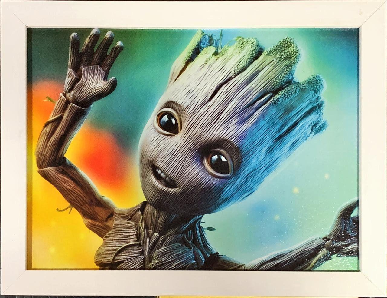 Quadro com Moldura Baby Groot: Guardiões da Galáxia Vol. 2 (Guardians of the Galaxy Vol. 2)