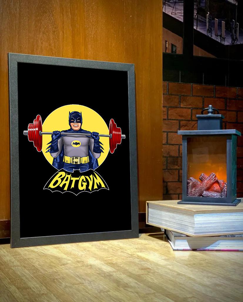 Quadro Com Moldura BatGym: Batman - 46x33 - EV