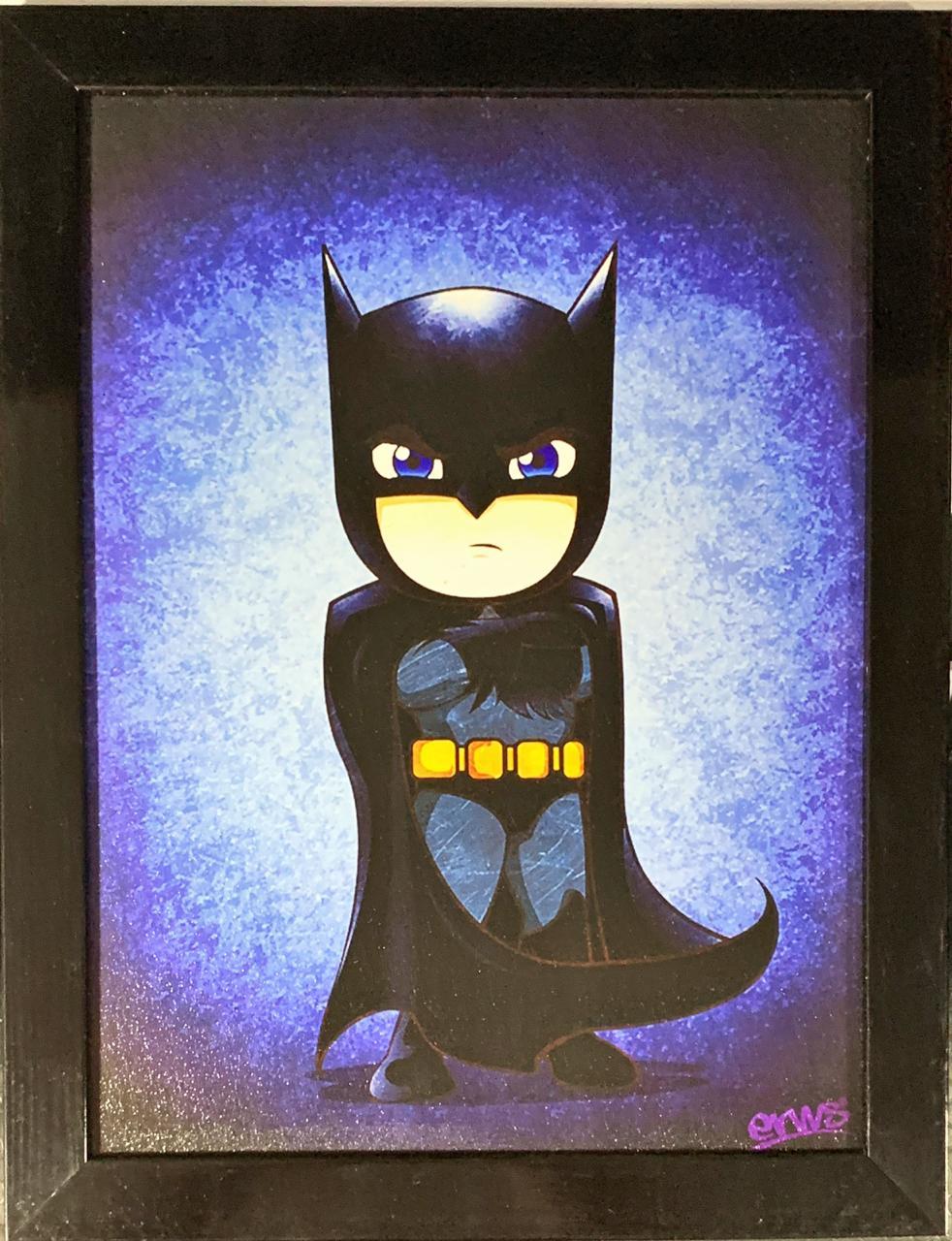 Quadro com Moldura Batman (Cartoon): DC Comics