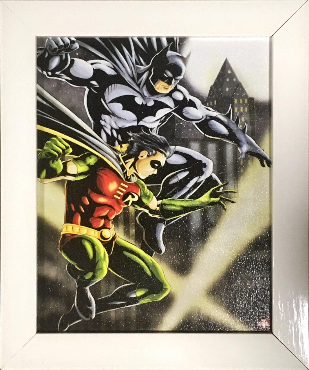Quadro com Moldura: Batman e Robin: DC Comics - (24x29)