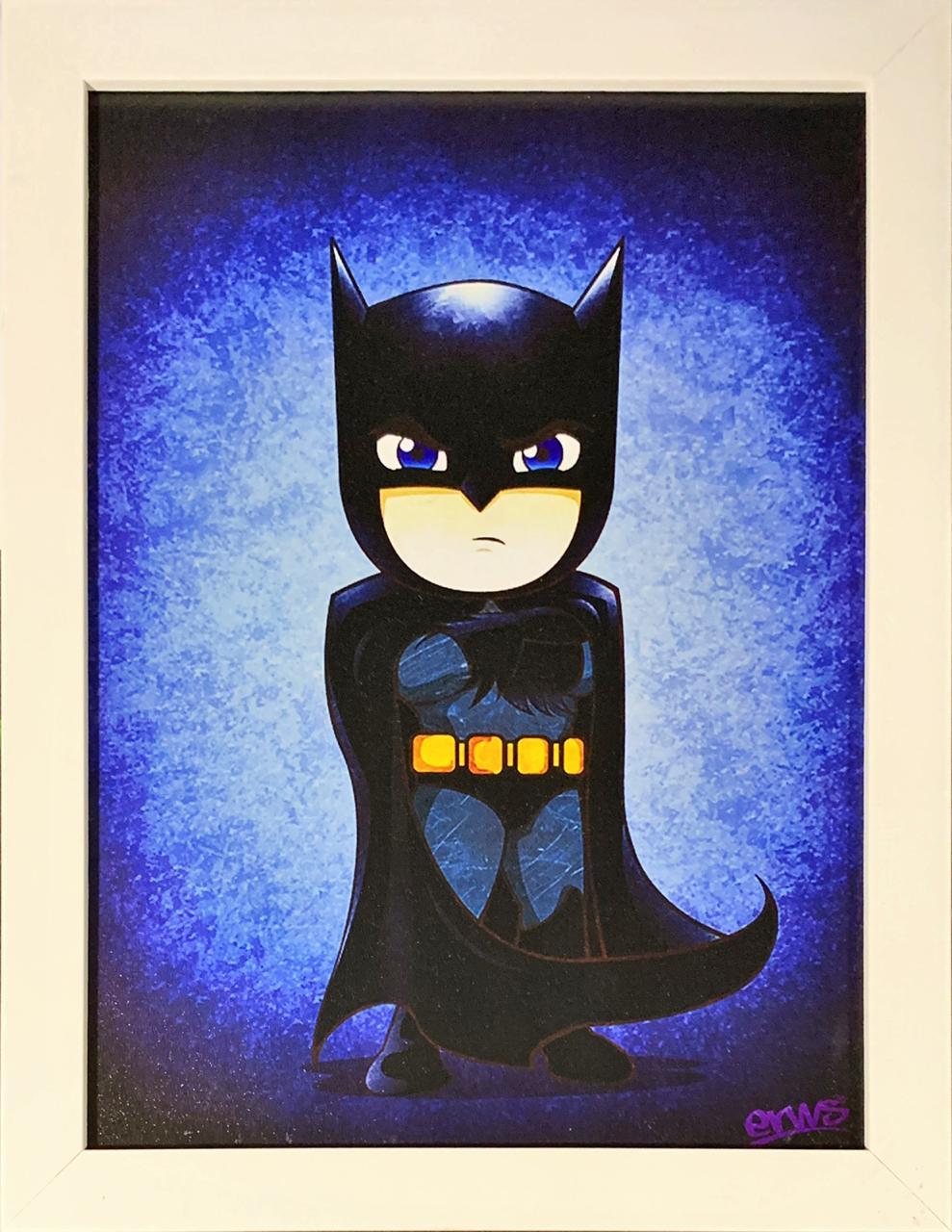 Quadro com Moldura Branca Batman (Cartoon): DC Comics