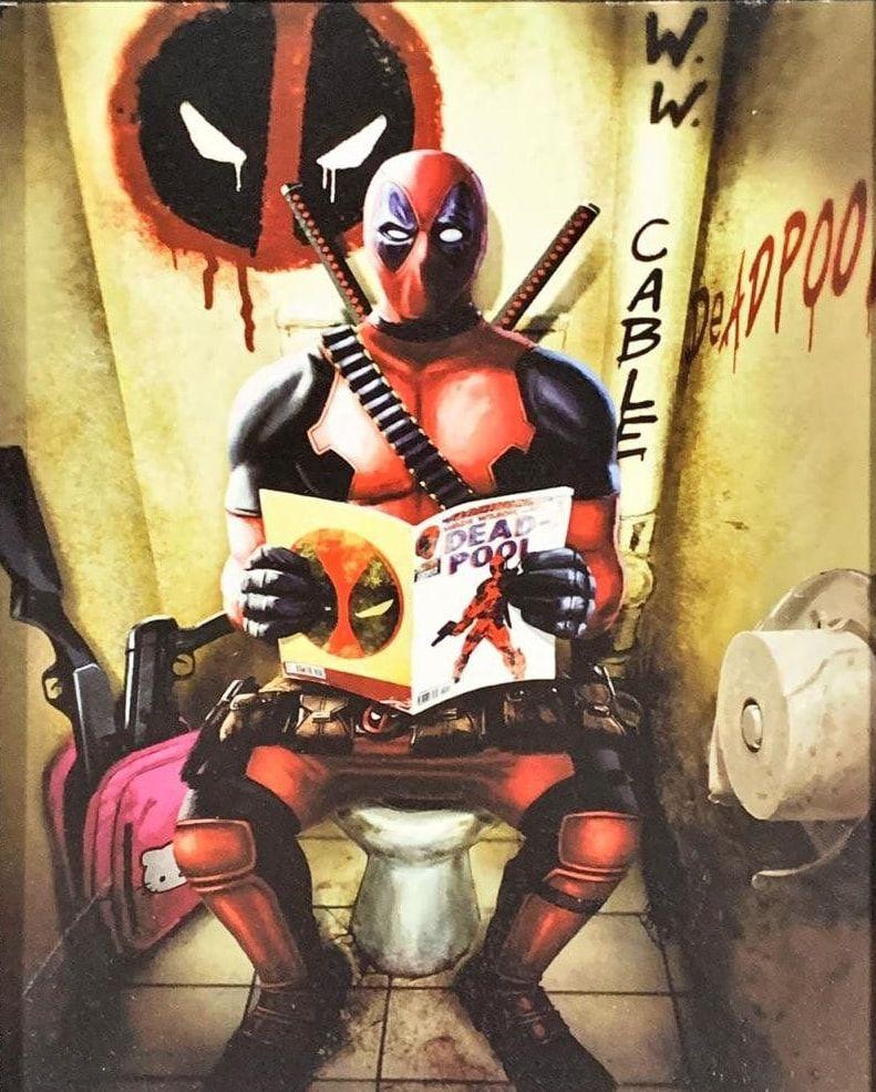 Quadro com Moldura Branca Deadpool (WC): Marvel Comics - (24x29)