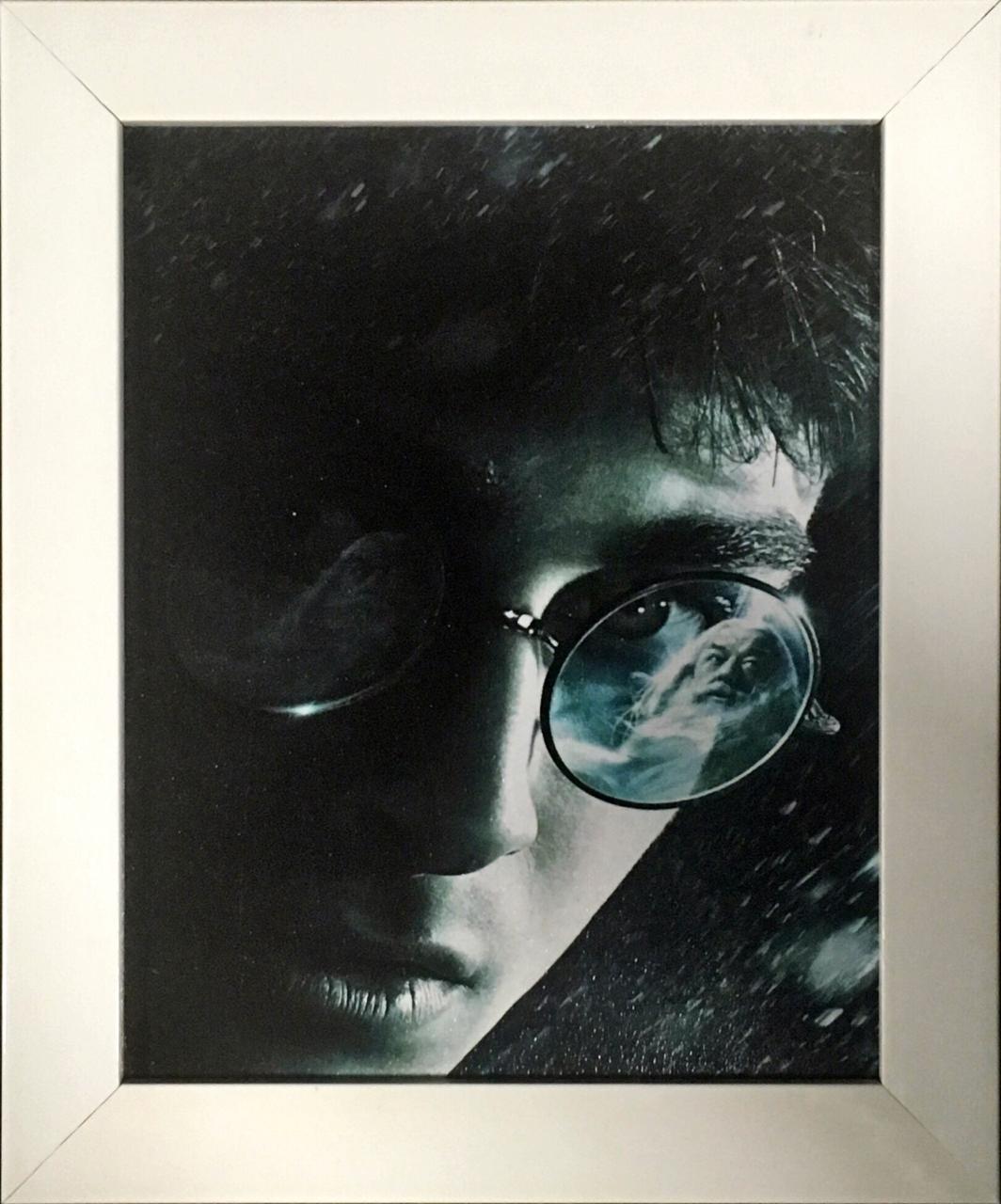 Quadro com Moldura Branca: Harry Potter (24x29)