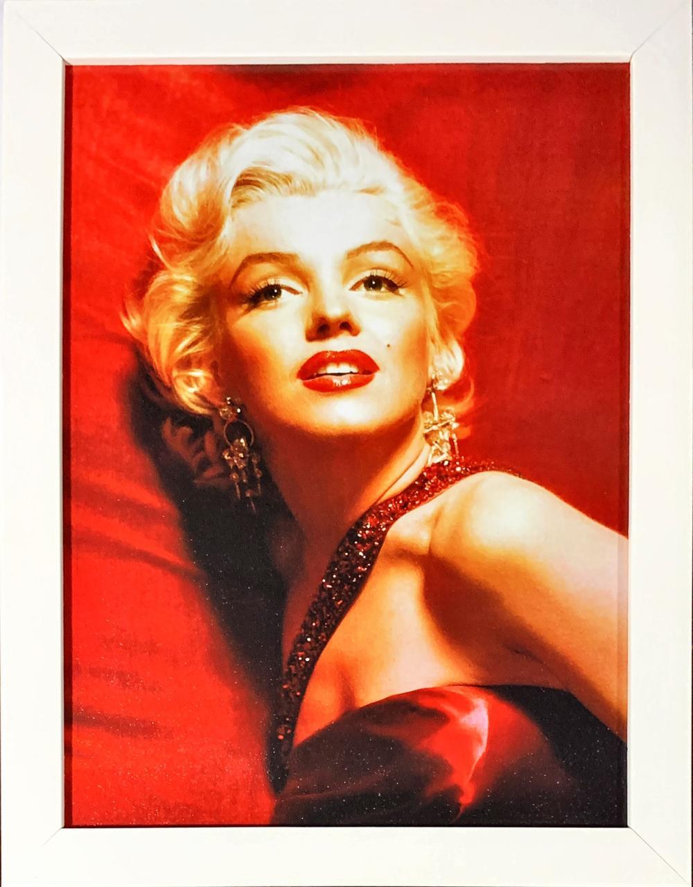 Quadro com Moldura Branca Marilyn Monroe