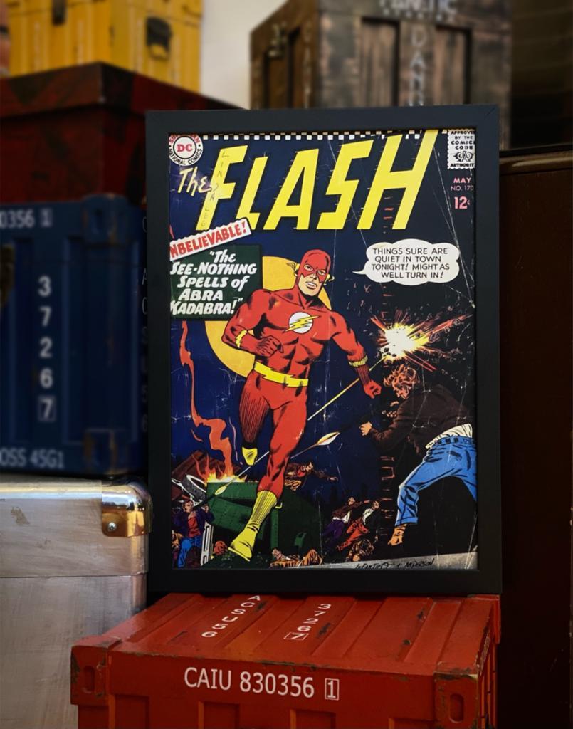 Quadro Com Moldura: Capa Quadrinho The Flash Nº 170 - Dc Comics 46X33cm