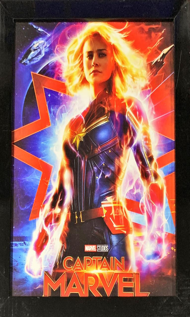 Quadro com Moldura Capitã Marvel: Marvel Comics