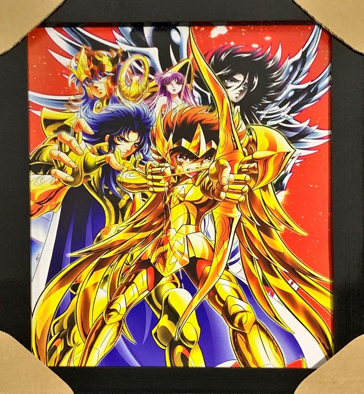 Quadro com Moldura Cavaleiros de Ouro: Os Cavaleiros do Zodíaco - EV