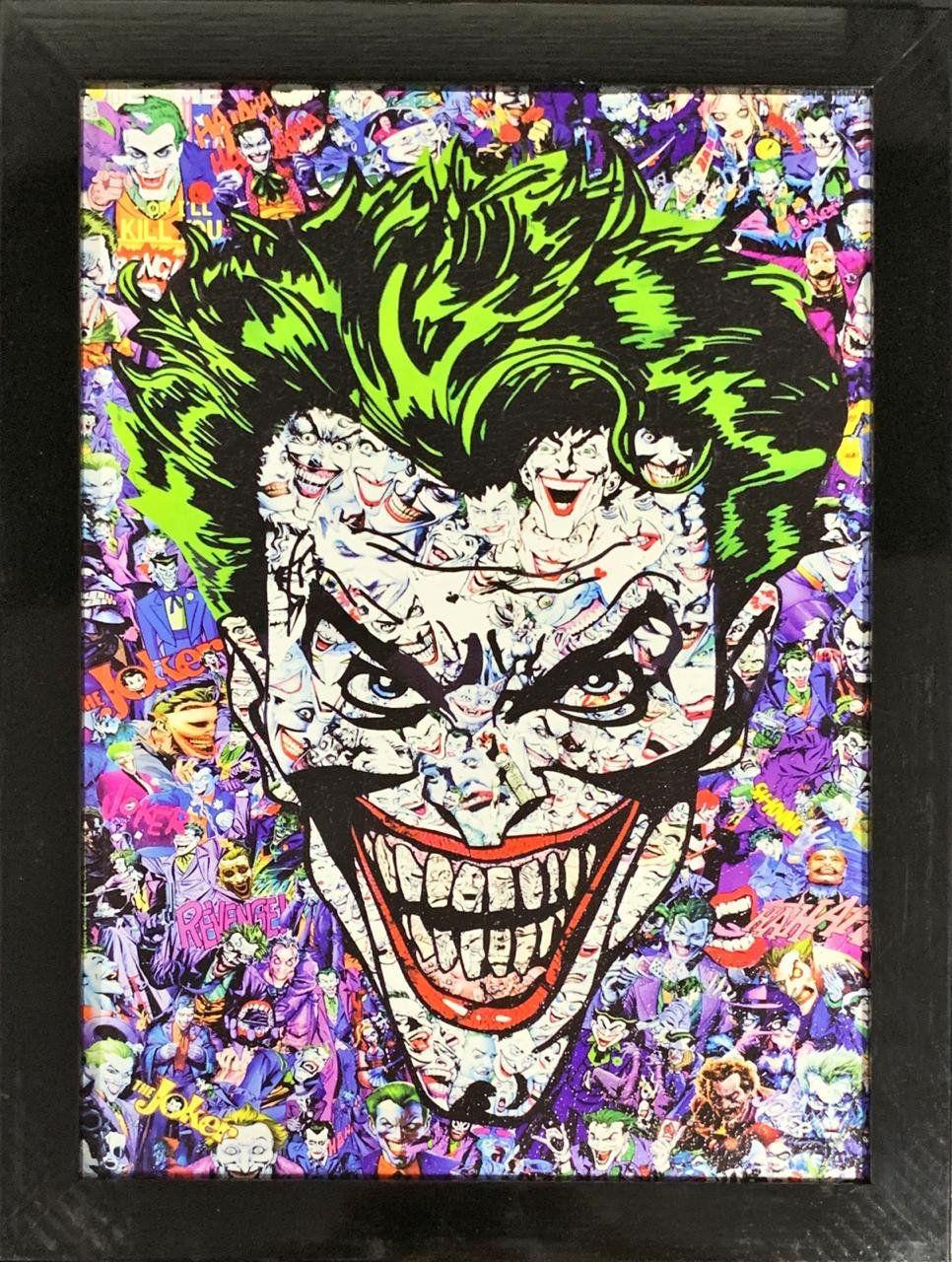 Quadro com Moldura Coringa (Joker): DC Comics 46x33