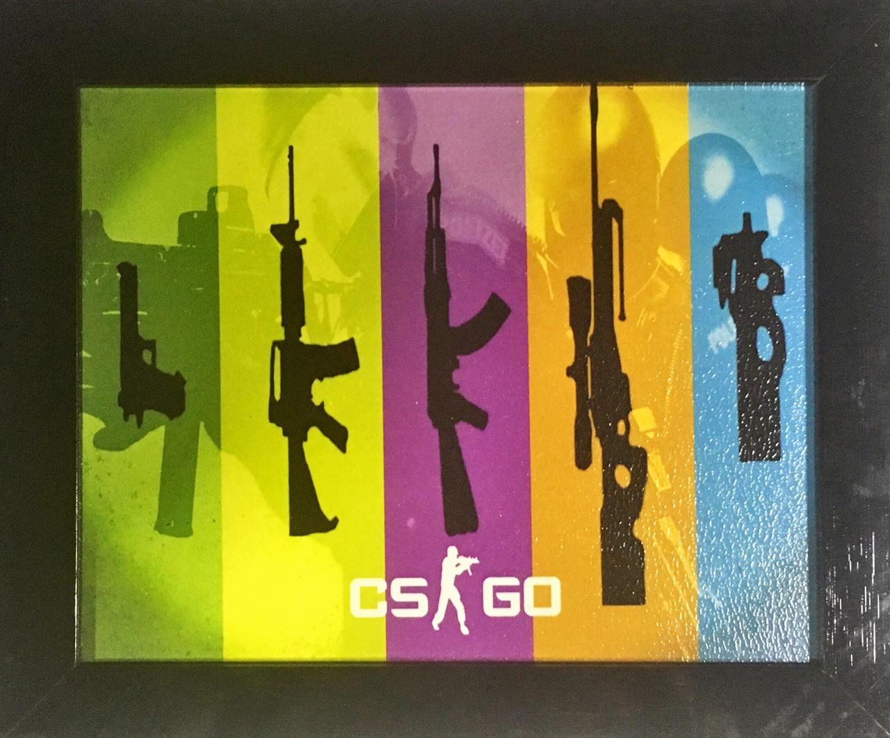 Quadro com Moldura: Counter-Strike: Global Offensive - (24x29)
