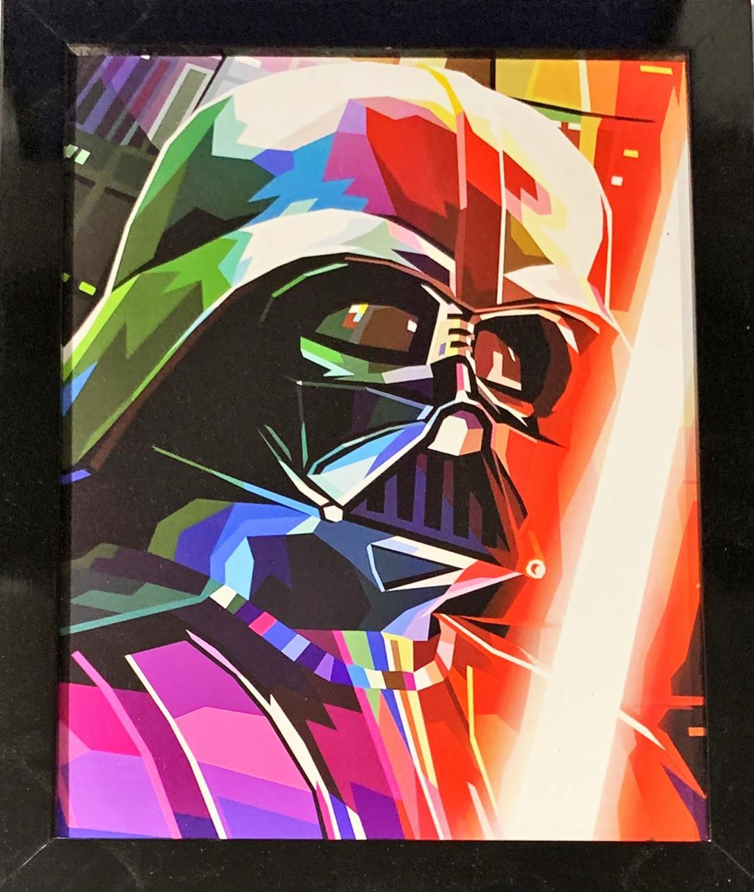 Quadro com Moldura Darth Vader Colors