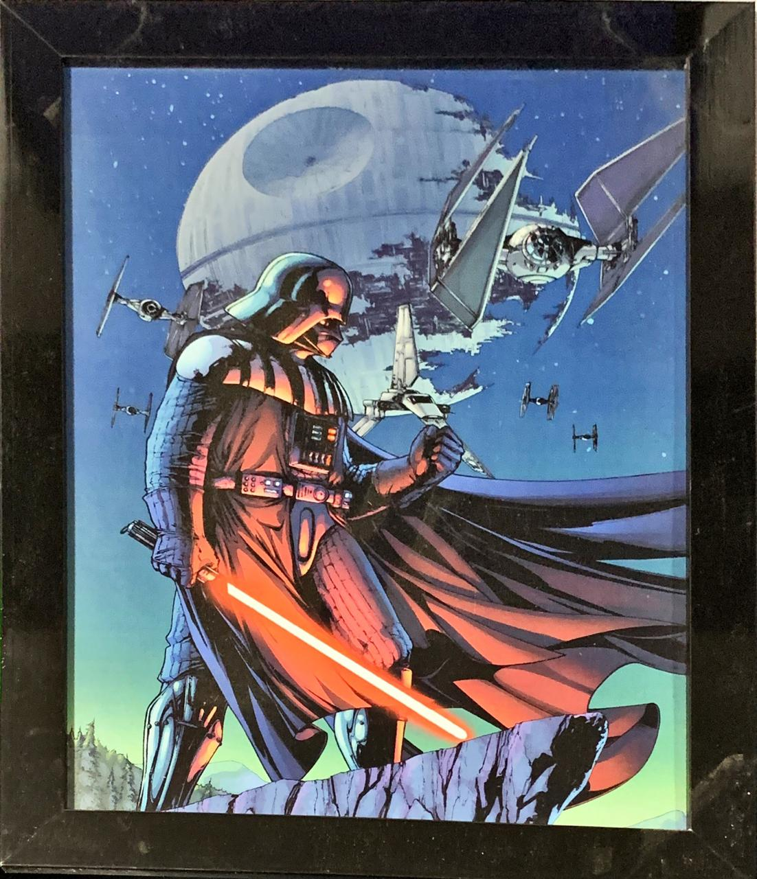 Quadro com Moldura Darth Vader: Star Wars