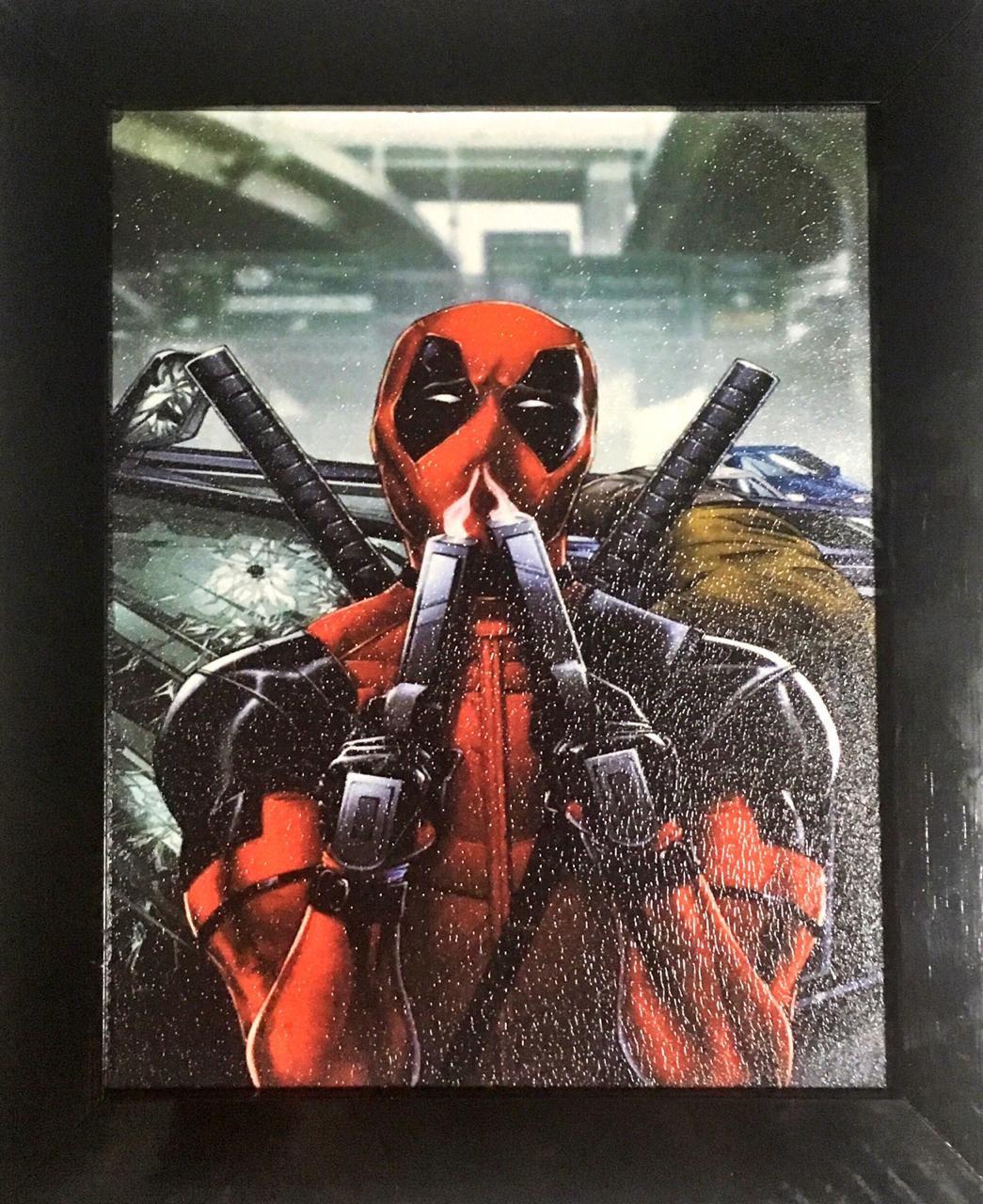 Quadro com Moldura: Deadpool (Armas) - 24x29