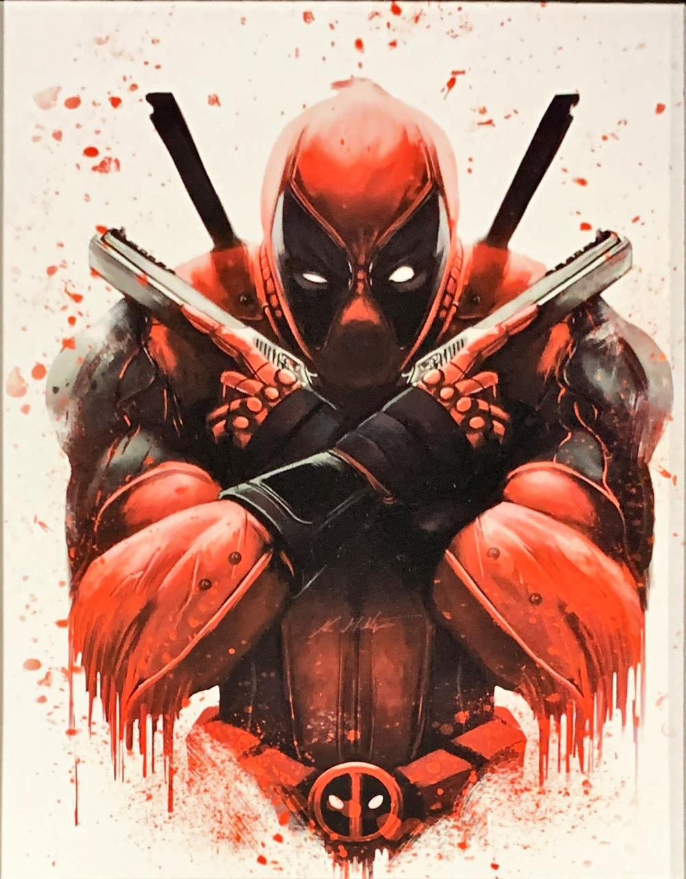 Quadro com Moldura Deadpool (Armas Cruzadas): Marvel Comics