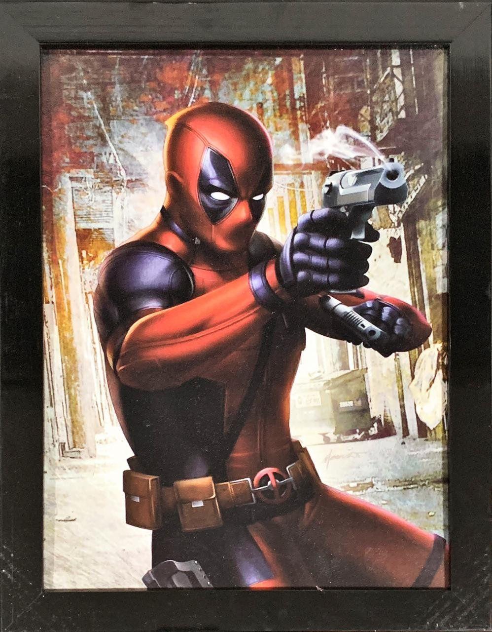 Quadro com Moldura Deadpool: Marvel - (46x33) - EV