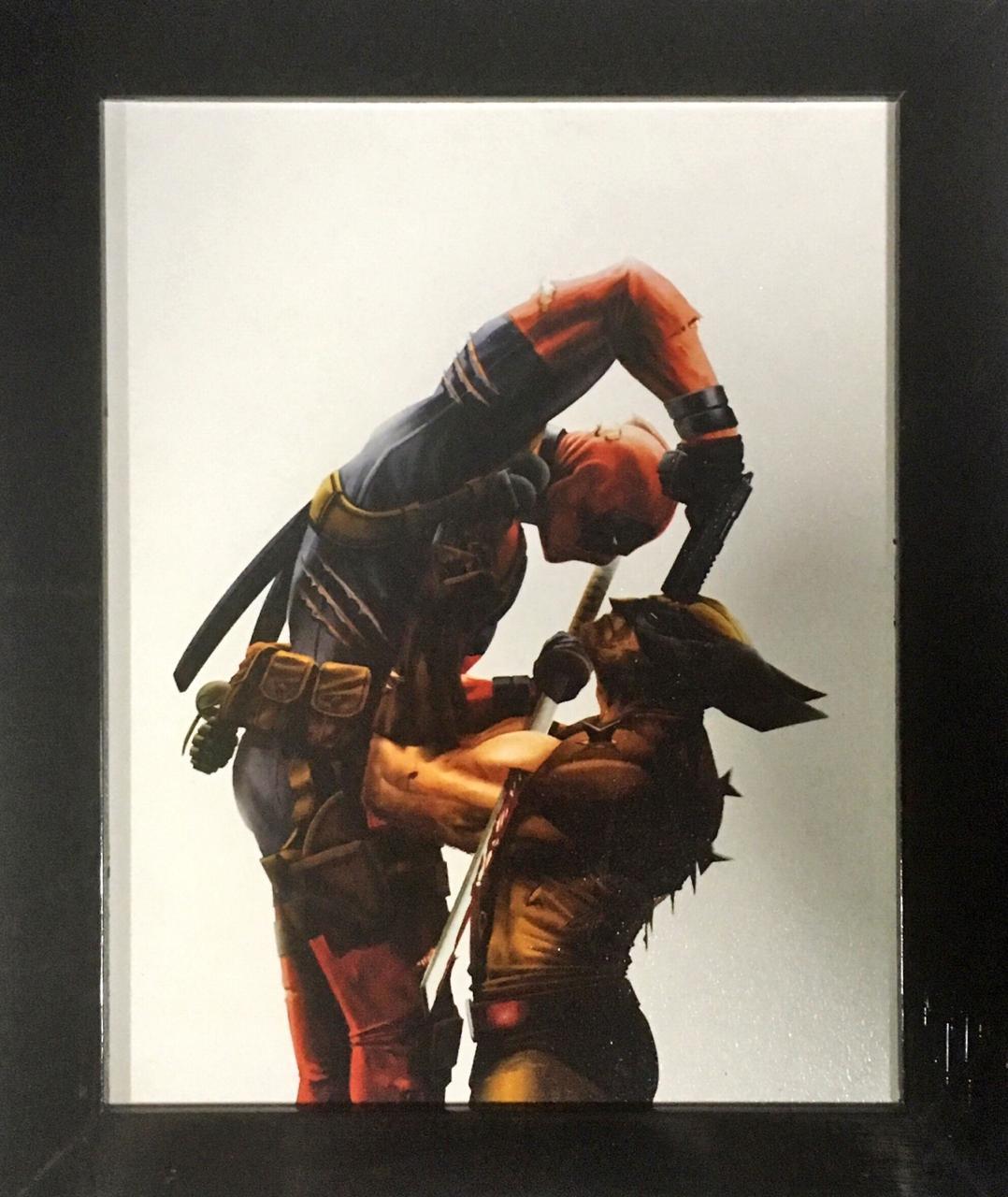 Quadro com Moldura: Deadpool Vs Wolverine: Marvel Comics - (24x29)