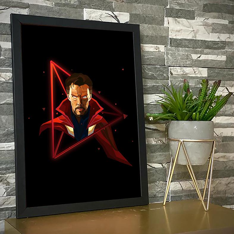 Quadro Com Moldura Doctor Strange Doutor Estranho Herói Disney+ - 33x46 - EV