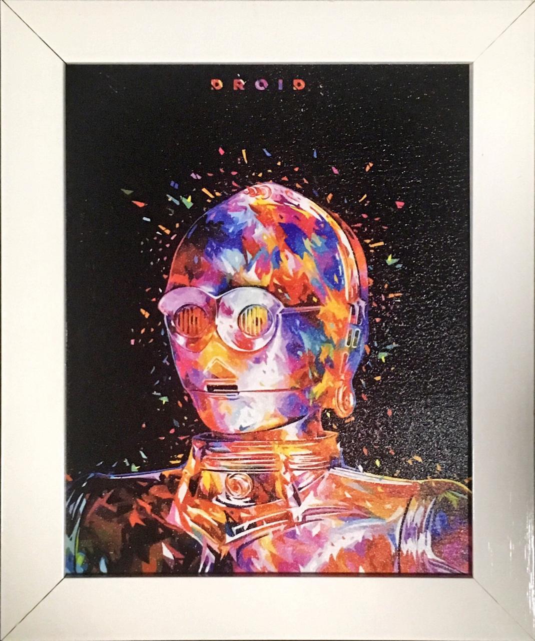 Quadro com Moldura: C-3PO (Star Wars) - (24x29)
